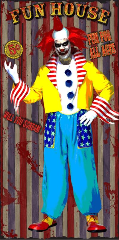 Clown door cover