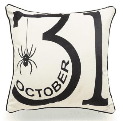 October 31 Halloween cushion