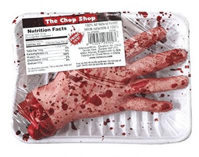 Chopshop hand, Halloween decoration