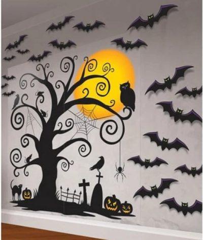 Halloween wall decorating kit